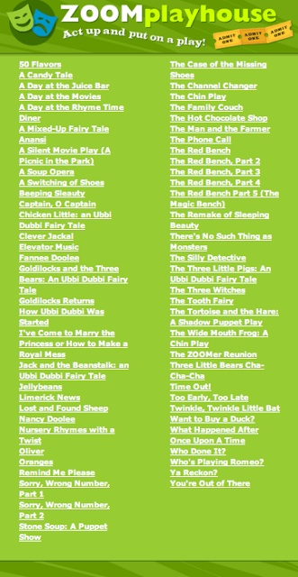 Printable scripts from PBSkids -search playhouse