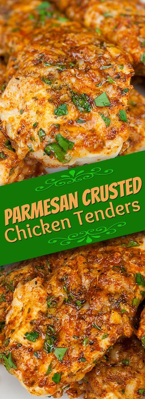 Parmesan Crusted Chicken Tenders – WARNING addictive and low carb!