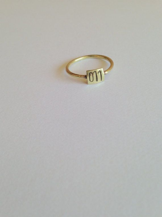 """This simple 011 ring to represent ya gurl. 