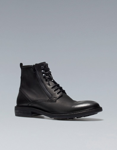 MILITARY ANKLE BOOTS - Shoes - Man - ZARA