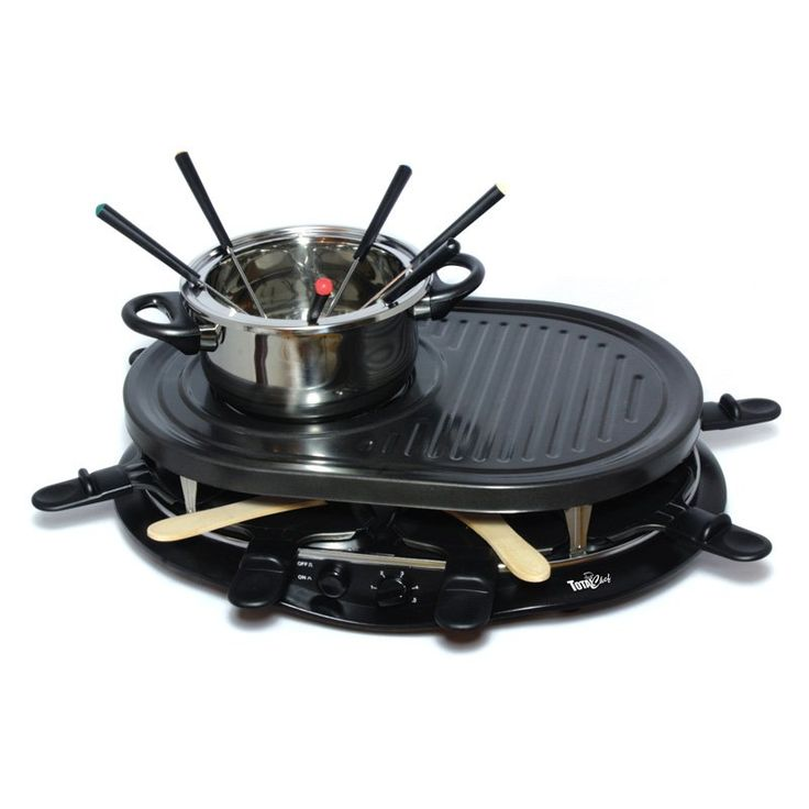 Total Chef TCRF08BN Raclette Party Grill and Fondue Set - Raclette Grills at Hayneedle