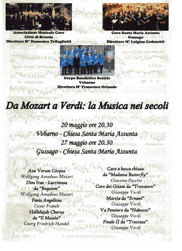 """Sabato 27 maggio concerto """"Da Mozart a Verdi: la Musica nei Secoli"""" - http://www.gussagonews.it/concerto-mozart-verdi-musica-secoli-maggio-2017/"""