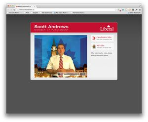 Liberal MP Scott Andrews can claim some amazing strengths in his digital ecosystem. However, this digital makeover also highlights some sloppy weaknesses.