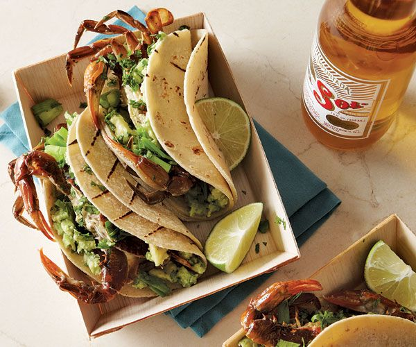 Grilled Soft-Shell Crab Tacos - Fine Cooking Magazine. Someone clearly had me in mind when they created this recipe. Can't wait to try!
