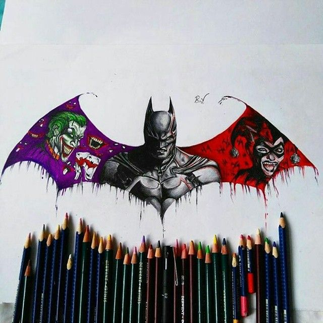 "15k Likes, 308 Comments - Art of Drawing on Instagram ✏ (@artofdrawingg) on Instagram: ""#batman ! By @ruben_varela10 :) _  Email or KIK us for a business enquiry!"""