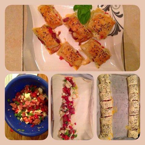 Entdecke mein Rezept für gefüllte Blätterteigrolle mit Sucuk und Mozzarella! Herzhaft und saftig. Das Rezept gibt es auf meinem Foodblog aus Köln!