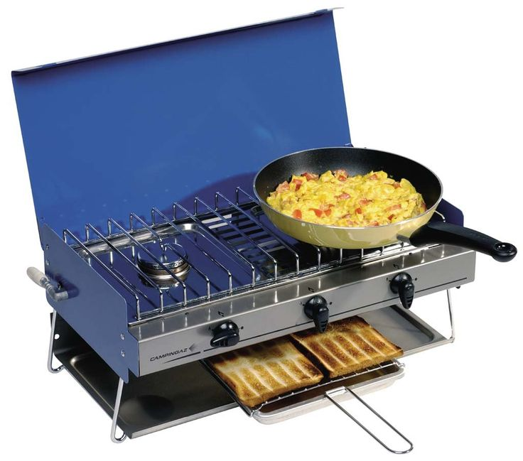 Campingaz Camping Chef Stove and Grill with Clips and Tubing