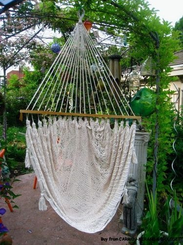 81 best crochet hammocks swings chair images on for Macrame hammock chair pattern