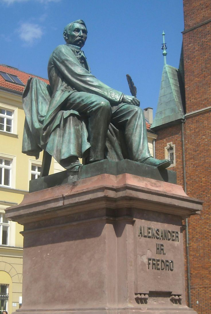 Statue of Aleksander Fredro in Wrocław, Poland