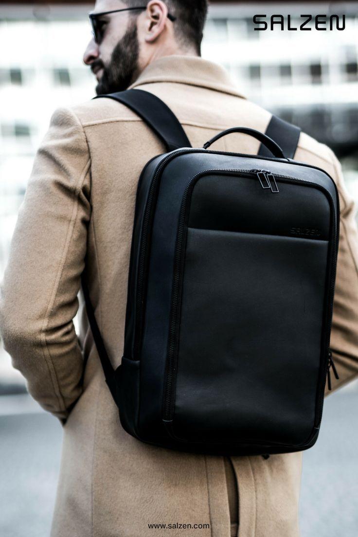 Der Business Backpack in schwarz. Nachhaltig produziert und aus Glattleder.   newwork  business ba2a4bf4b3111