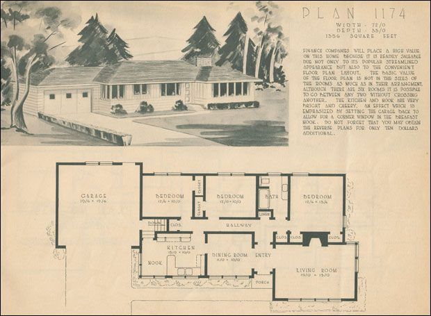 Good 1950 Home NBuilding Plan Service   Plan 1174