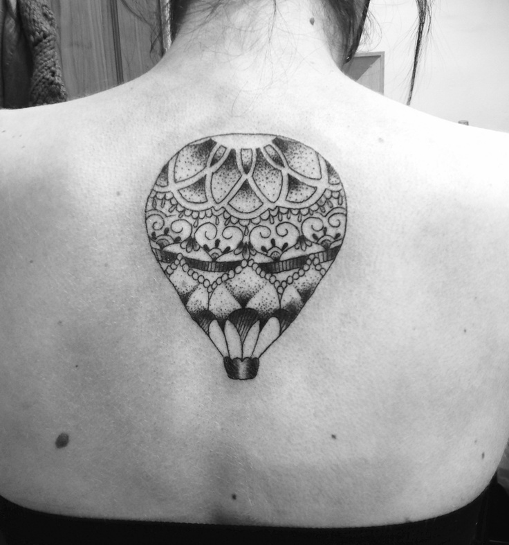 Jess Parry Tattoos - Mandala style hot air balloon, please do not copy!