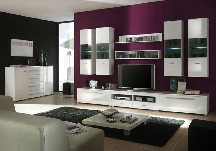 wohnzimmerwand modern einrichtungsideen wohnzimmer modern - Wohnzimmer Modern Lila