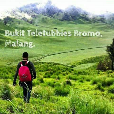 Teletubbies Bromo Hill, Malang, Indonesia.