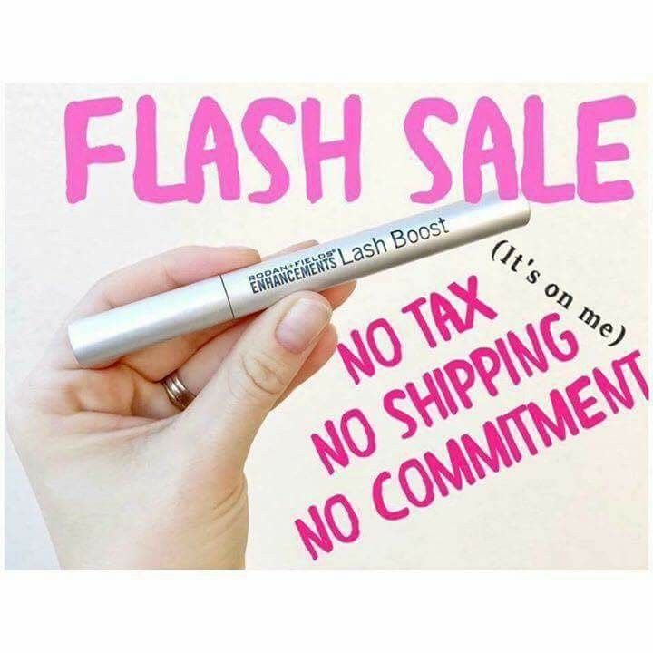 TODAY and TOMORROW ONLY!!!  Alright ladies you have been hearing me rave about our amazing product Lash Boost!  Who has been wanting to try it but hasn't yet?  Through tomorrow I'm running a flash sale!    Im offering Lash Boost at my consultant price, no tax and no shipping, to 3 people! You pay me and I will deliver it to your door or pop it in the mail to you. One tube of Lash Boost will last 60+ days!   Comment below or shoot me a message and I'll add you to my list!