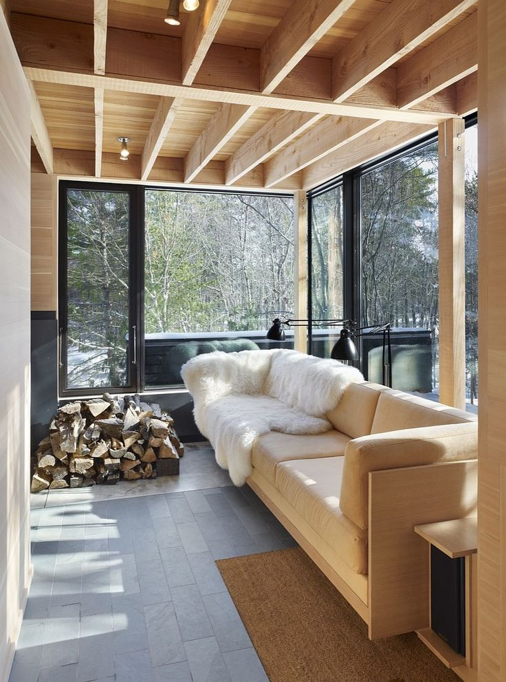 An Island Retreat Cabin with Green Roof