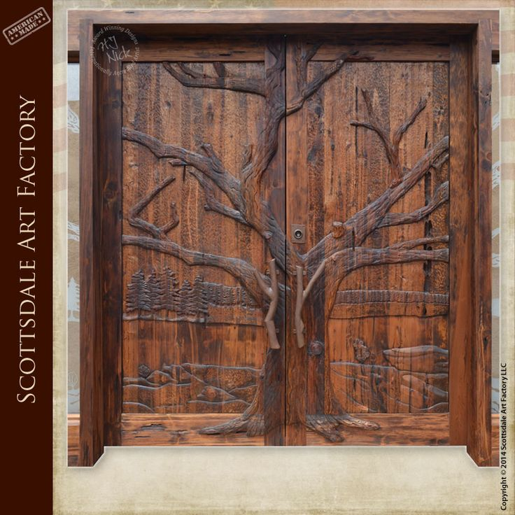 17 best images about art in wood on pinterest trees a for Wood carving doors photos