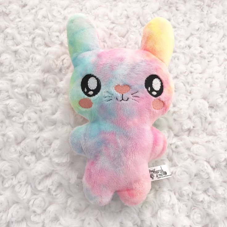 rainbow easter bunny toy