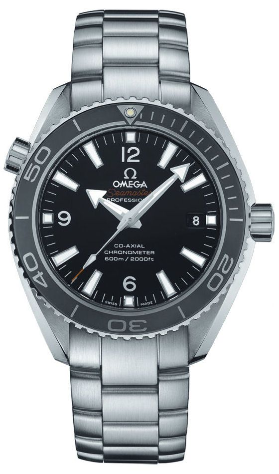 The stylish @omegawatches Seamaster Planet Ocean 600 M Co-Axial 42 mm contains the self-winding Omega Co-Axial caliber 8500 COSC-certified chronometer movement. #omega #watchtime #horology