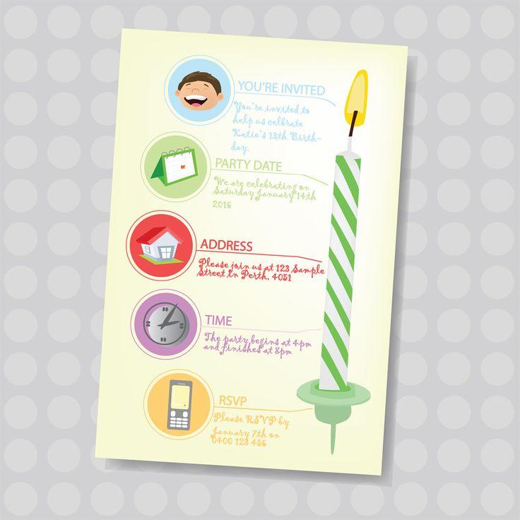45 best KIDS BIRTHDAY INVITES images on Pinterest   Birthday ...
