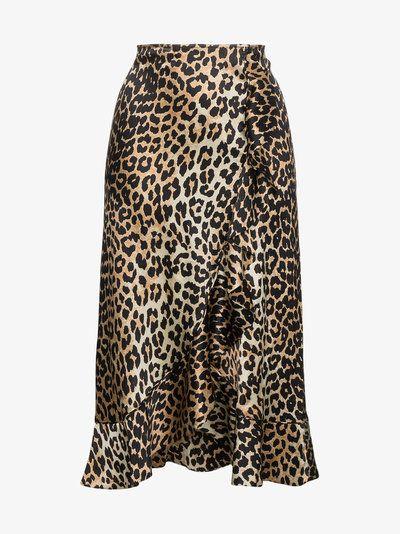 158c194b9772 Leopard print silk skirt | LEOPARD | Leopard print outfits, Animal ...