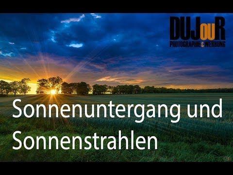 Sonnenuntergang und Sonnenstrahlen Lightroom / Photoshop Tutorial german...