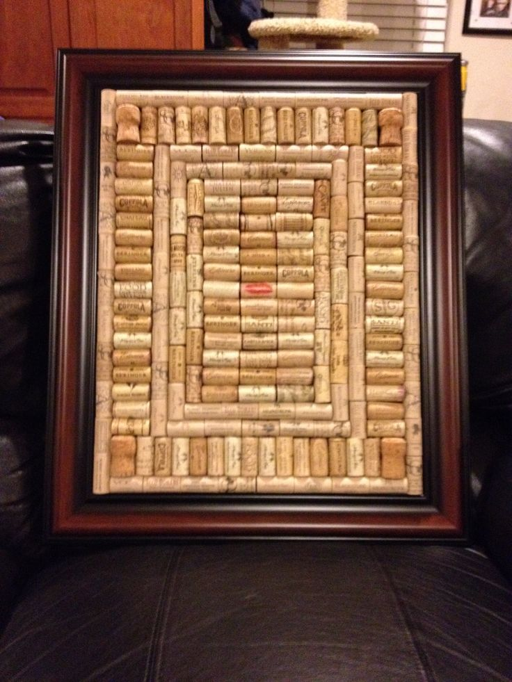 Wine cork board made with a picture