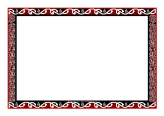 Maori art-themed A4 page borders (SB8033) - SparkleBox