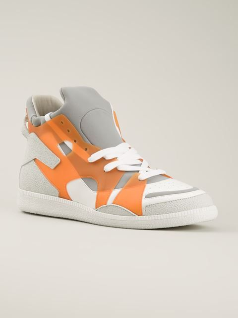 Maison Margiela Geometric Panelled Sneakers - Hirshleifers - Farfetch.com