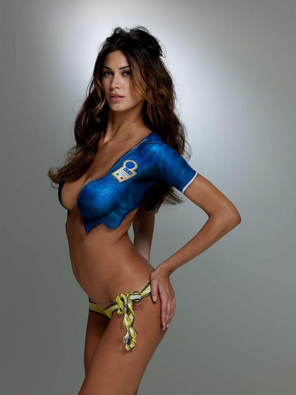 Brazil Body Paint Soccer