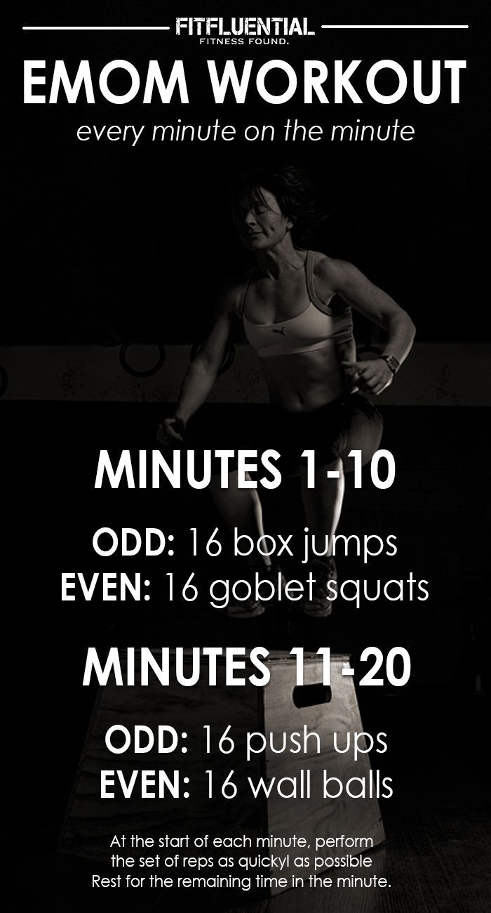 EMOM workout -every minute on the minute #FitFluential