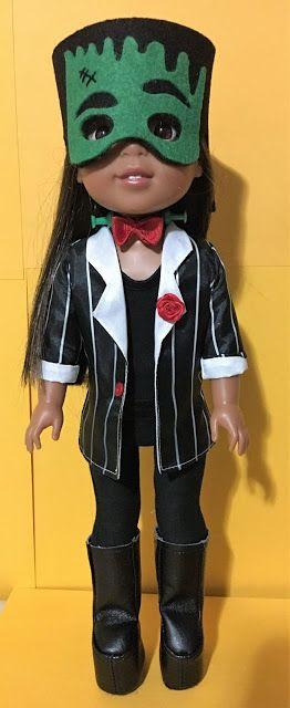 FrankenWellie or Costume pattern for Frankenstein for the American Girl Dolls, Wellie Wishers.