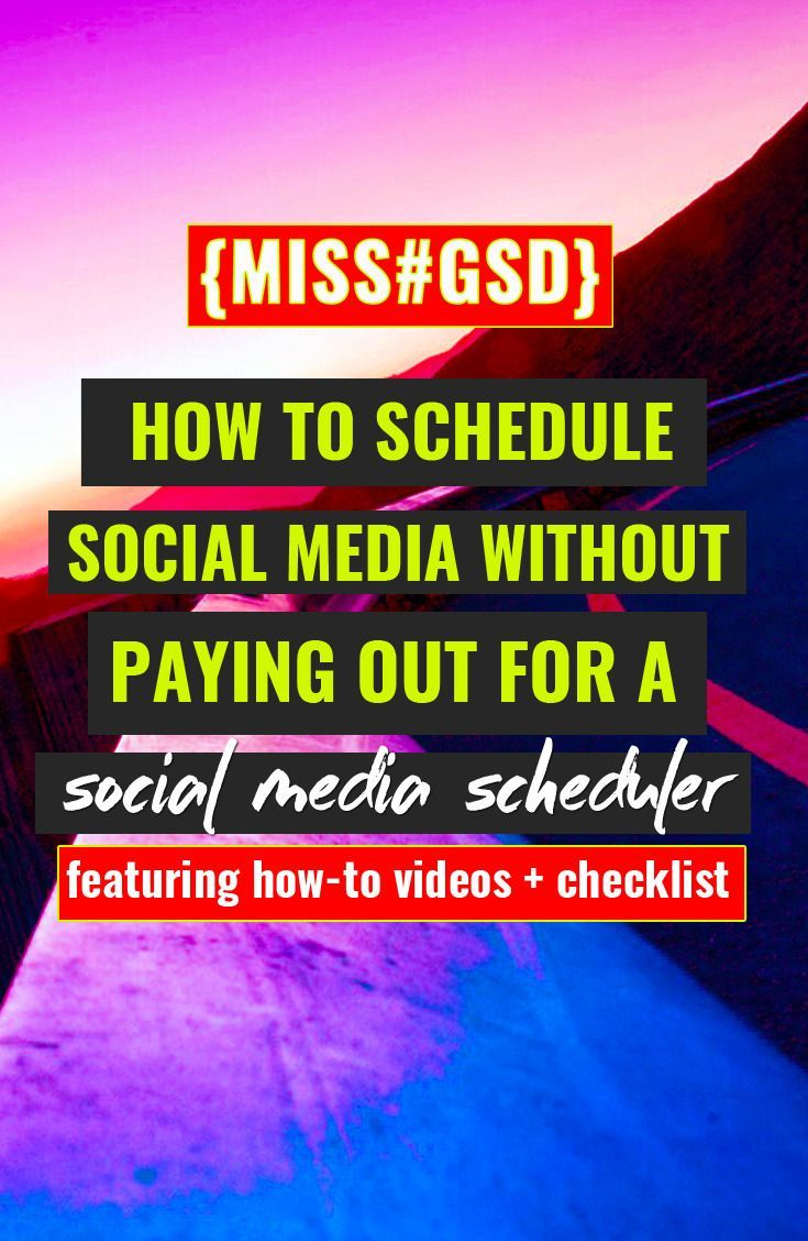 SCHEDULING YOUR