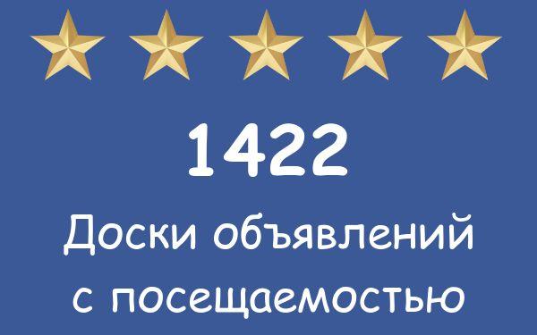 1422 посещаемые доски объявлений