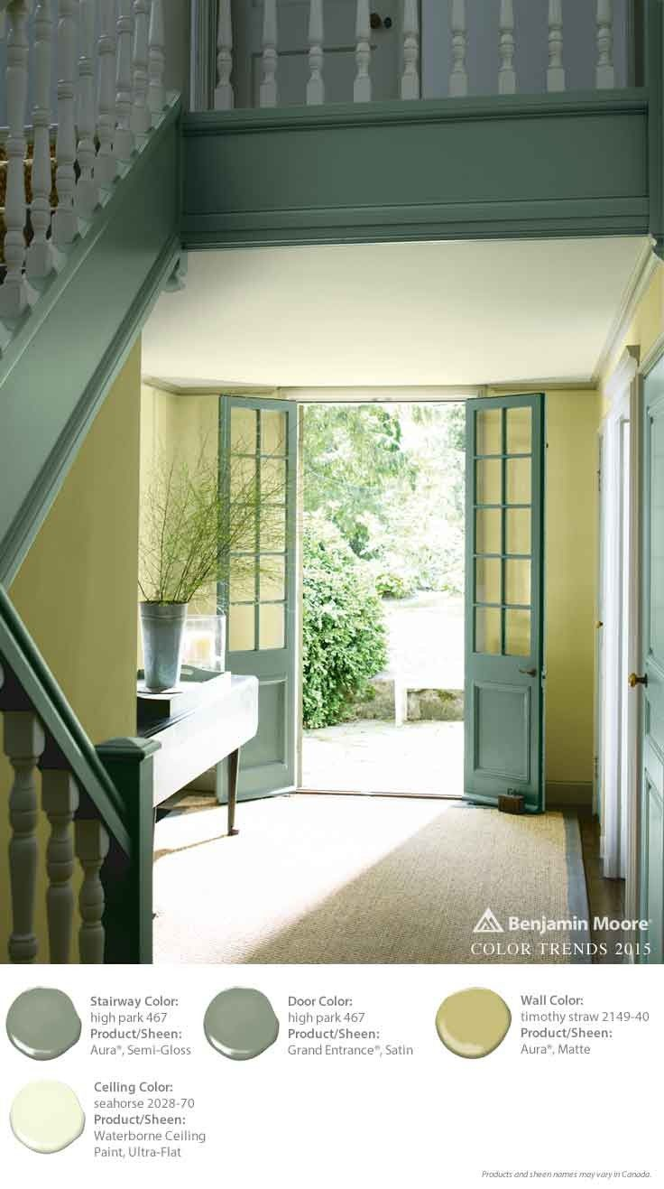 Color lock technology means rich colors stay truer.  Benjamin Moore's Aura Exterior Paint in this entryway adds a lot of dimension—and durability. [ad]