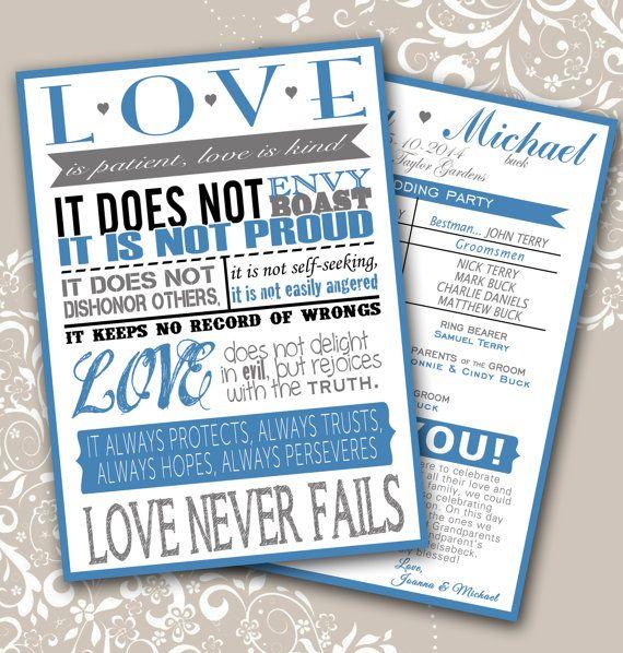 1000 Ideas About Unique Wedding Programs On Pinterest