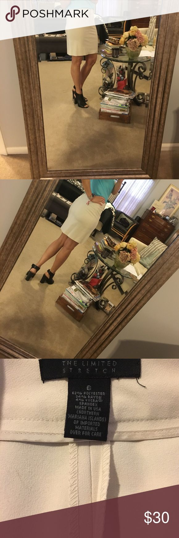"""The limited stretch skirt off white/cream The limited stretch skirt off white/cream. Size 6. 18"""" long The Limited Skirts"""