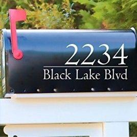 Reflective Mailbox Decal   Modern Mailbox Address Decal   Mailbox Decoration   Personalized Decal   Mailbox Sticker   Address Sticker   Gift