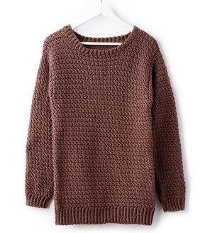 cacd5be484f28 How To Make A Big Easy Crochet Pullover