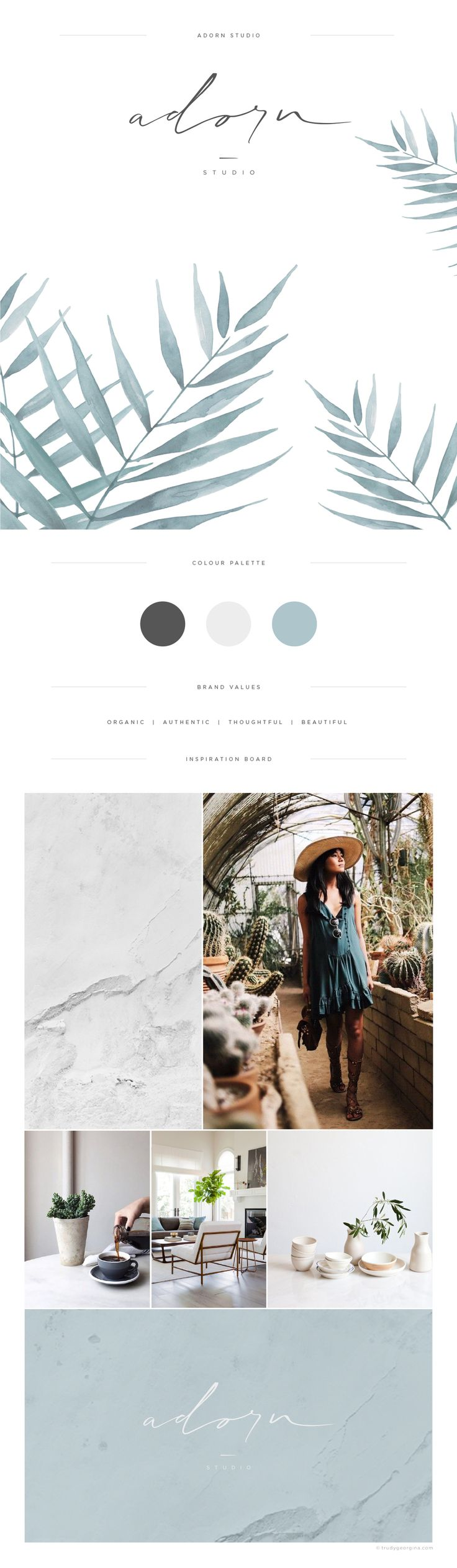 Fluid and organic brand identity for boutique retailer. The logo is crafted…