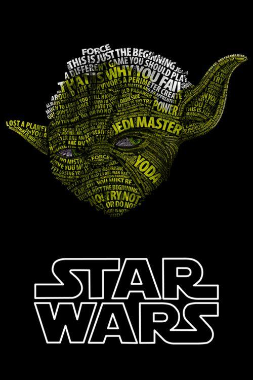 Yoda Typographic Portrait by Vladislav Poliakov