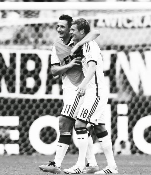miroslav klose and toni kroos. there is some serious shipping here.