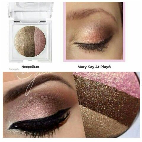 Mary Kay At Play® Baked Eye Trio in Neapolitan Three vibrant eye shades are expertly coordinated in perfect harmony so you can mix and match easily for endless looks! Provides a luminous finish and intense color payoff and feels lightweight. Glides on easily, applies evenly and is crease-resistant. Lets you change up the intensity with supersmooth, buildable color. Wear one shade or two or three! Use with Mary Kay At Play® Eye Crayon for even more fabulous looks.