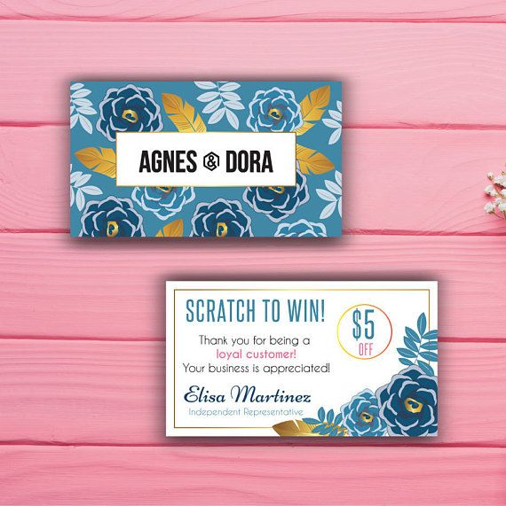Agnes and Dora Scratch to win Scratch Off Card Agnes and