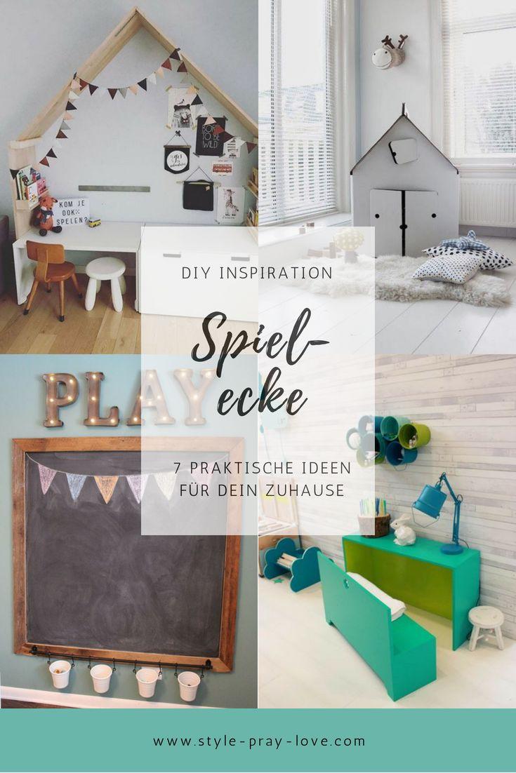 DIY-Inspirationen für eine Spielecke. Egal ob Kinderzimmer, Wohnzimmer oder Flur – diese Ideen begeistern!