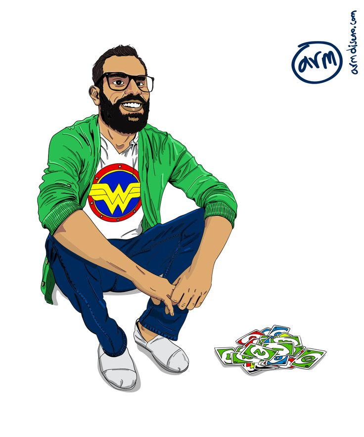 El Lobo, Cesar. My friends are very important for me, I left Colombia 3 years and a half ago, to show my love for them I wanted to create an illustration of all of us together. I worked a couple of...