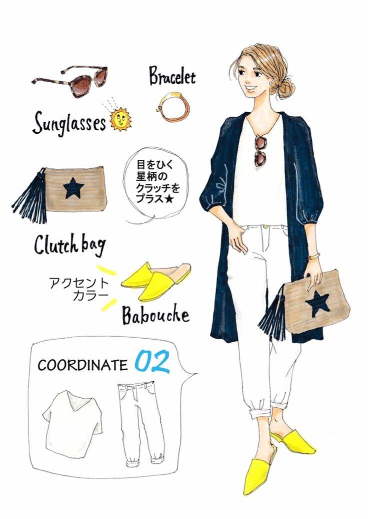 Instagramで今話題のファッションイラスト。大人気のイラストレーターSaekoさんが「今着たいユニクロアイテム」を使ったコーディネートを提案する連載、第2弾!今回は、ガウンのようにさらりと羽織れるコットンドビーロングシャツを使った着回しコーデをご紹介します。ふんわり柔らかなコットン素材は今の季節にぴったり!トレンドのロング丈なのもお気に入りポイントです。ベーシックコーデにも合わせやすいネイビ...