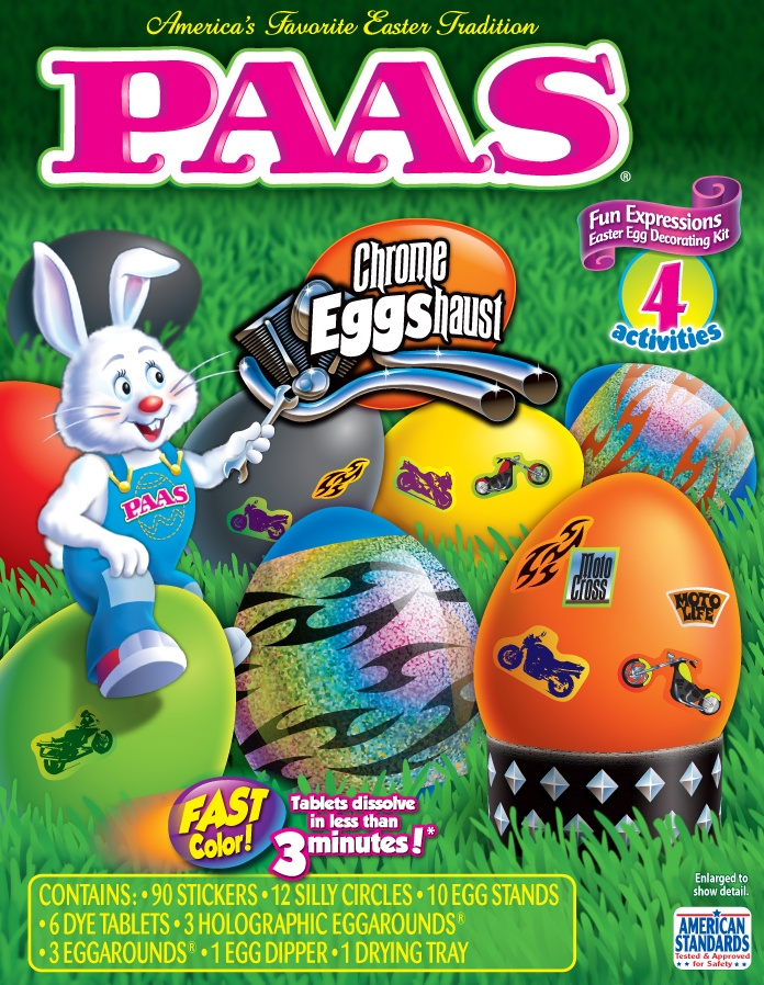With This Egg Decorating Kit Kids Can Add Motorcycle Themed Stickers And Other Embellishments To Their Dyed Eggs
