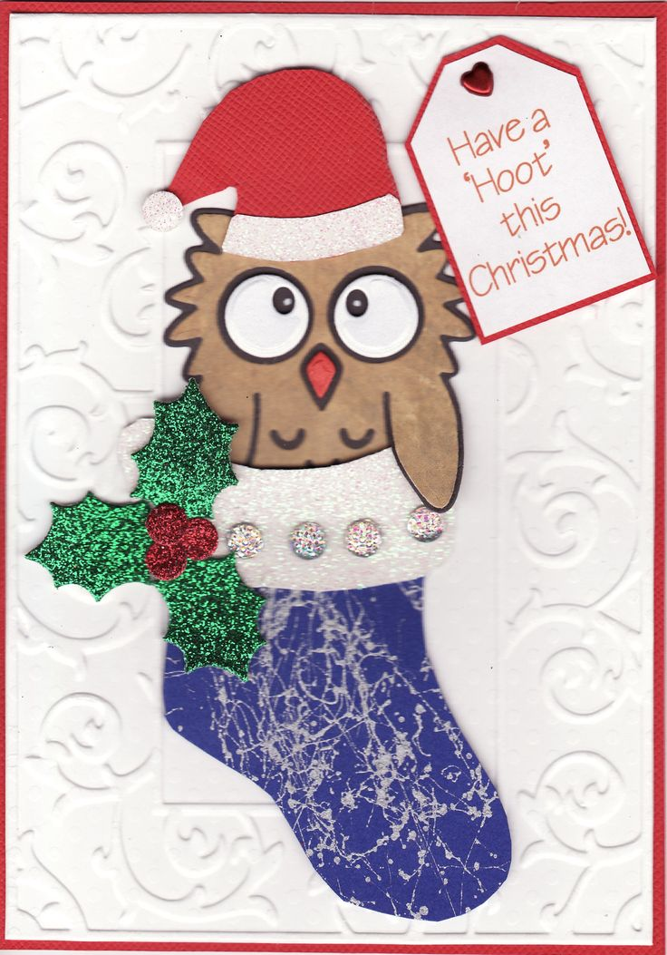 'Have a 'Hoot' this Christmas' card