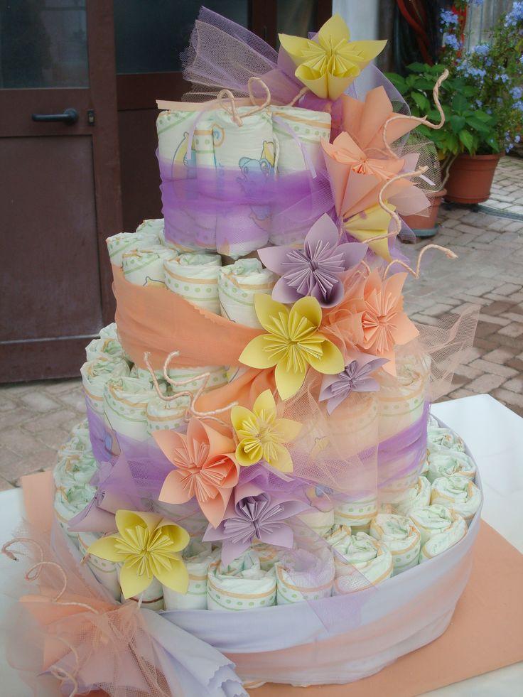 torta di pannolini / diaper cake